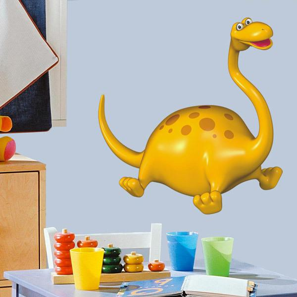 Stickers for Kids: Diplodocus jumping