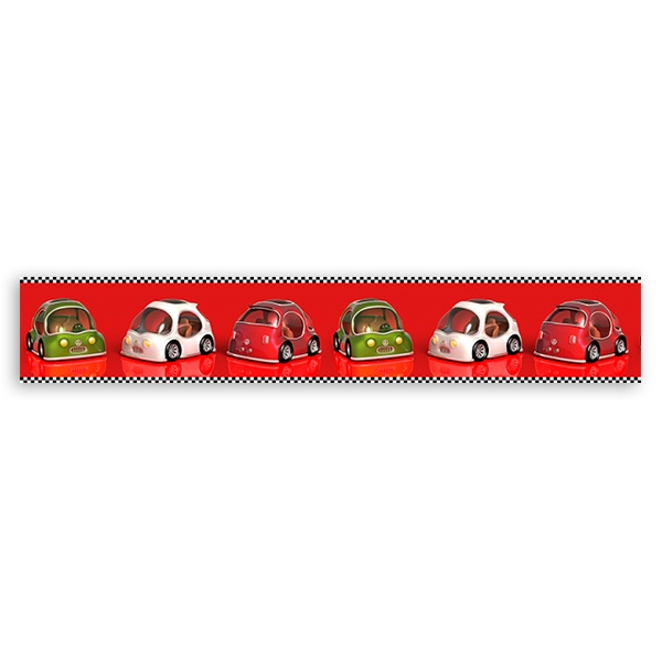 Stickers for Kids: Racing Cars border