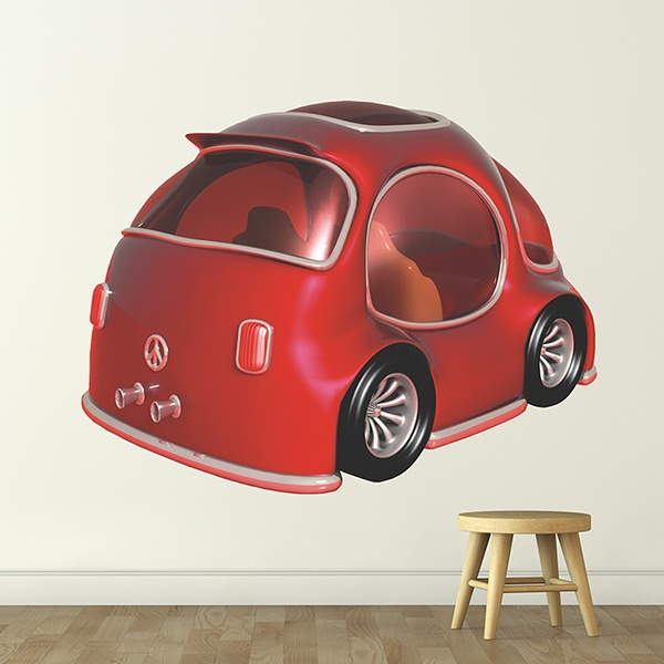 Stickers for Kids: red Car