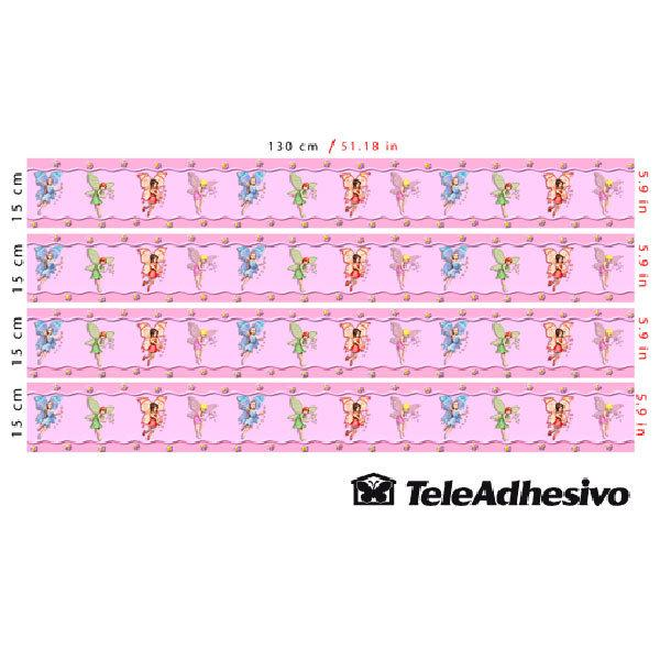 Stickers for Kids: Fairies border Colors