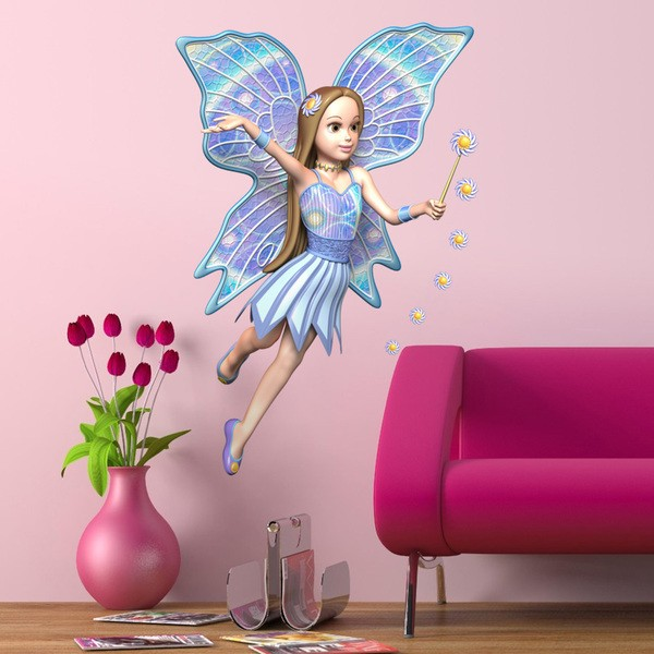 Stickers for Kids: Blue fairy with wand