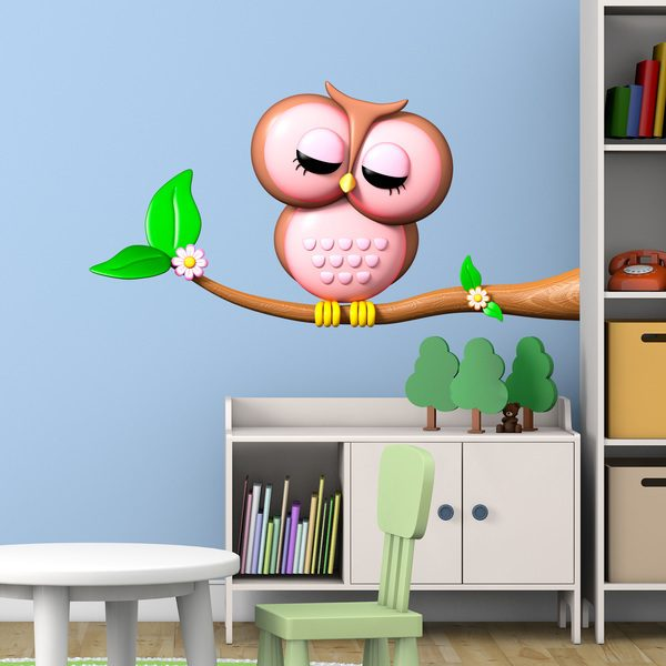 Stickers for Kids: Owl on Branch