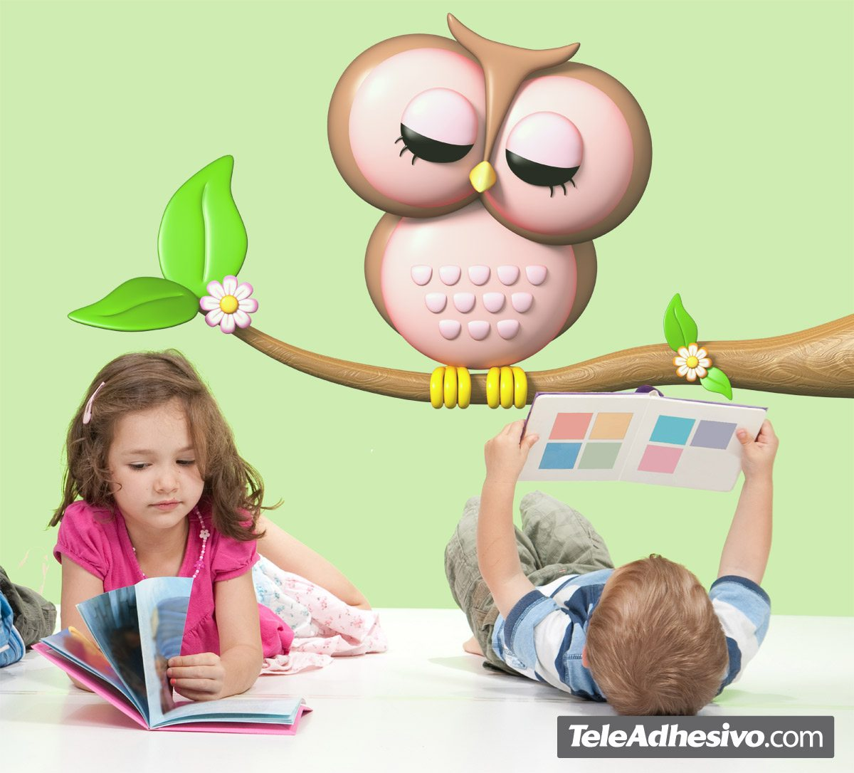 Stickers for Kids: Owl on a Branch