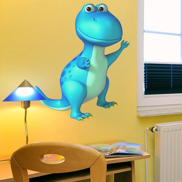 Stickers for Kids: T-Rex blue