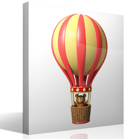 Stickers for Kids: Bear in red balloon