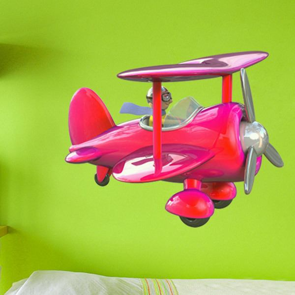 Stickers for Kids: Silver Biplane