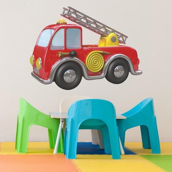 Stickers for Kids: Children's Fire Truck