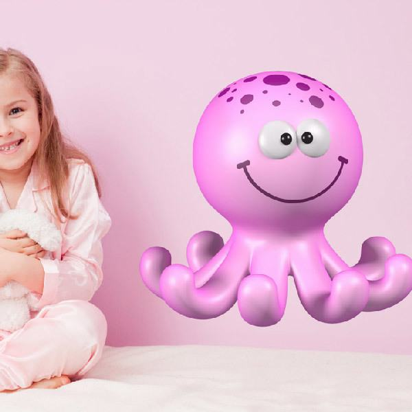 Stickers for Kids: Pink octopus