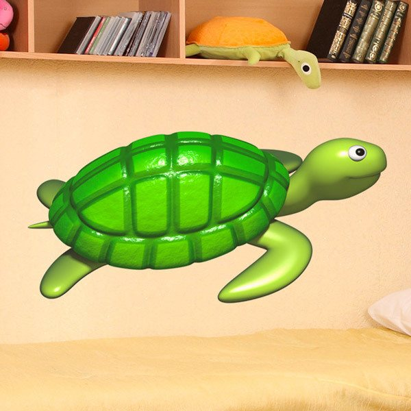 Stickers for Kids: Turtle swimming