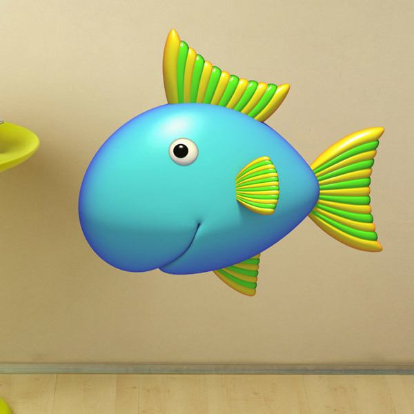 Stickers for Kids: Tricolor fish
