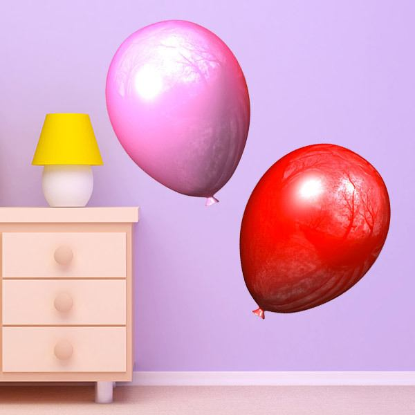 Stickers for Kids: Pink and red balloons