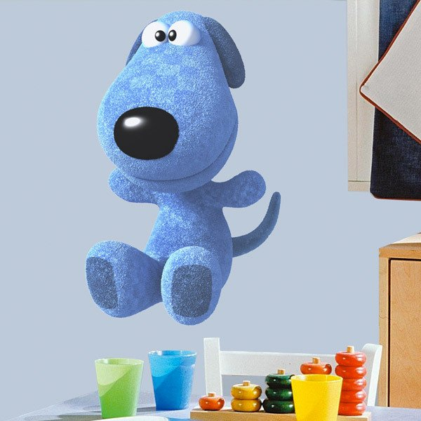 Stickers for Kids: Blue Dog Teddy