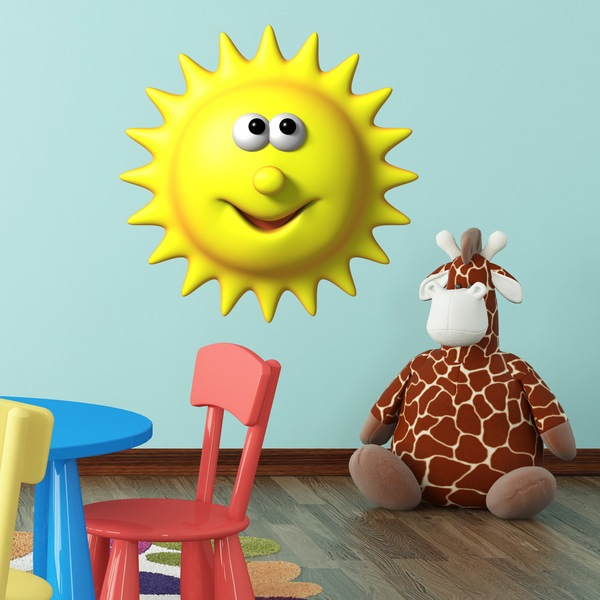 Stickers for Kids: happy sun