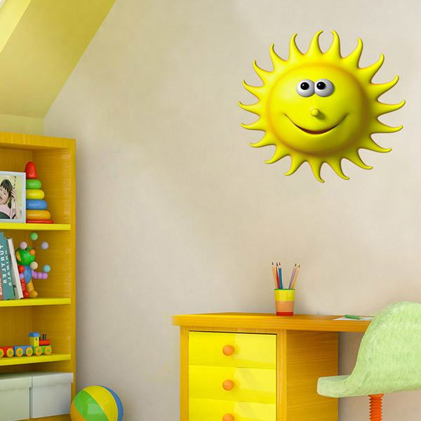Stickers for Kids: funny sun