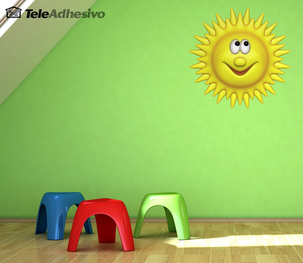 Stickers for Kids: Bright sun