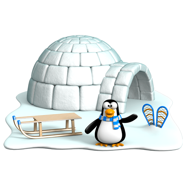 How To Draw Igloo For Kids
