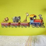 Stickers for Kids: The train of the animals 3