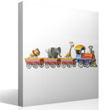 Stickers for Kids: The train of the animals 4