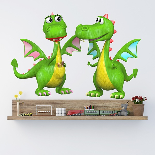 Stickers for Kids: Pair of Dragons