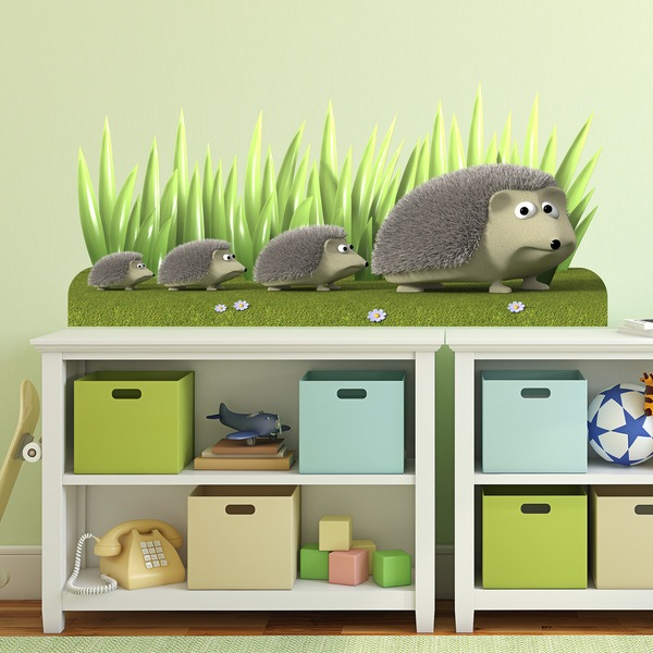 Stickers for Kids: Hedgehogs family