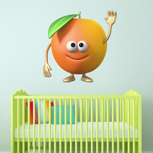 Stickers for Kids: Apricot
