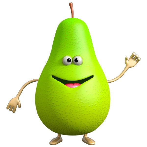 Stickers for Kids: Pear