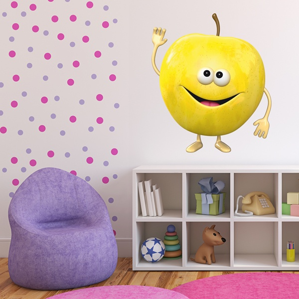 Stickers for Kids: yellow apple