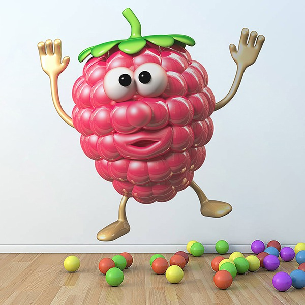 Stickers for Kids: Raspberry