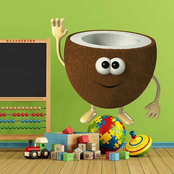Stickers for Kids: coconut