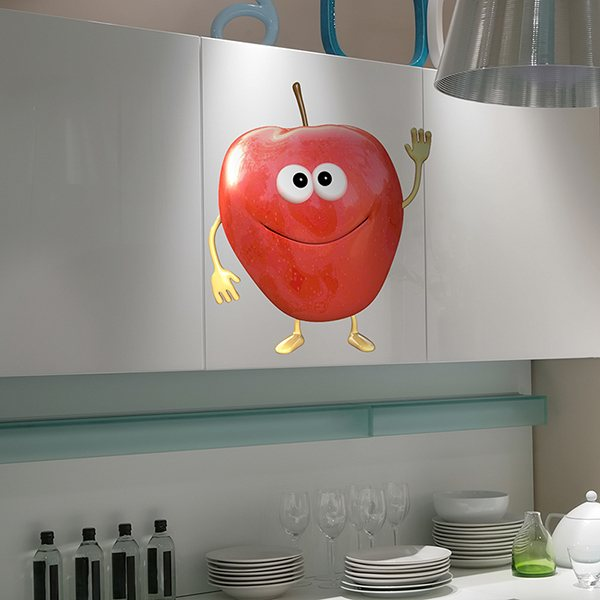 Stickers for Kids: red apple