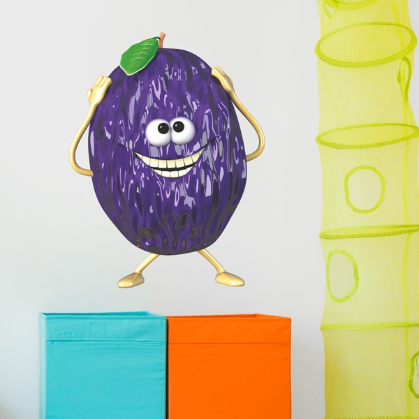 Stickers for Kids: prune