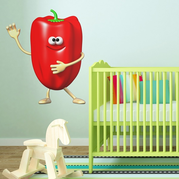 Stickers for Kids: Red pepper
