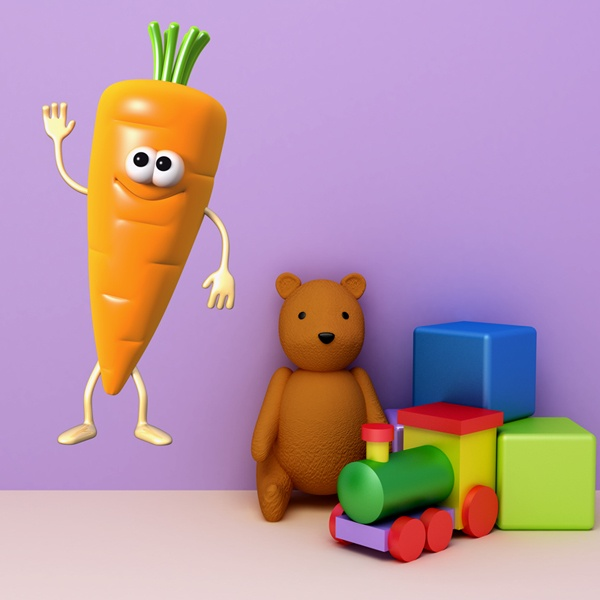Stickers for Kids: Carrot