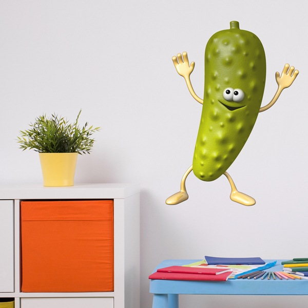 Stickers for Kids: Gherkin