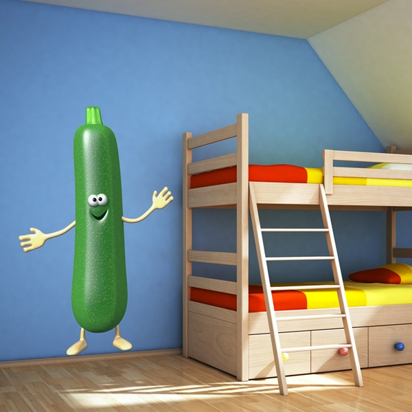 Stickers for Kids: Zucchini