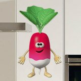 Stickers for Kids: Radishes 3