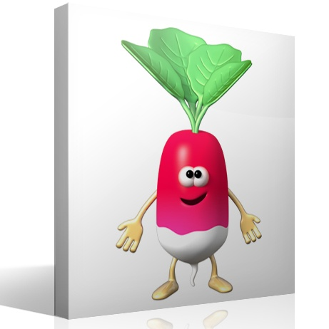 Stickers for Kids: Radishes
