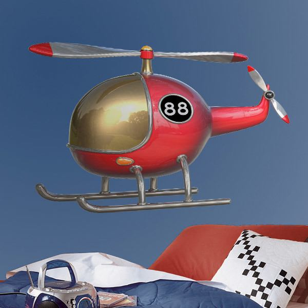 Stickers for Kids: Red Helicopter