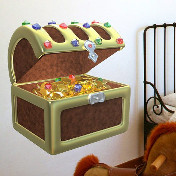 Stickers for Kids: The treasure chest