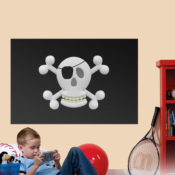 Stickers for Kids: Pirate flag for kids