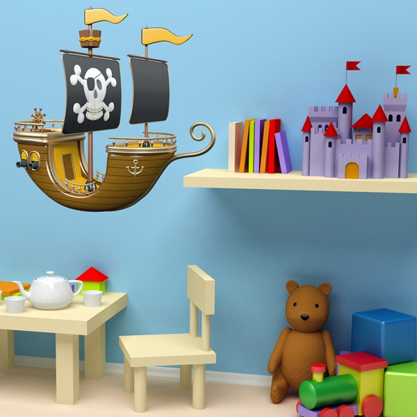 Stickers for Kids: Yellow Pirate Ship