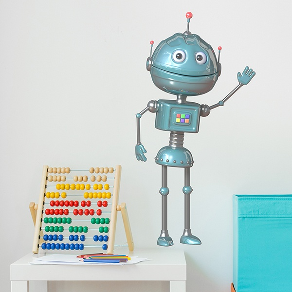 Stickers for Kids: Robot waving