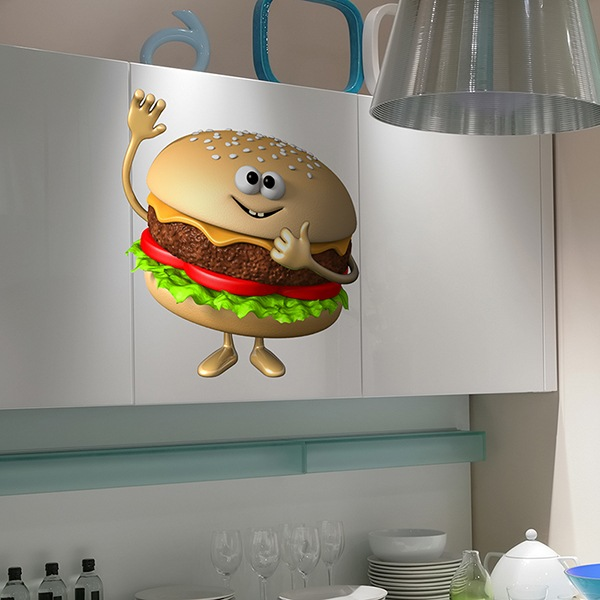 Stickers for Kids: Hamburger
