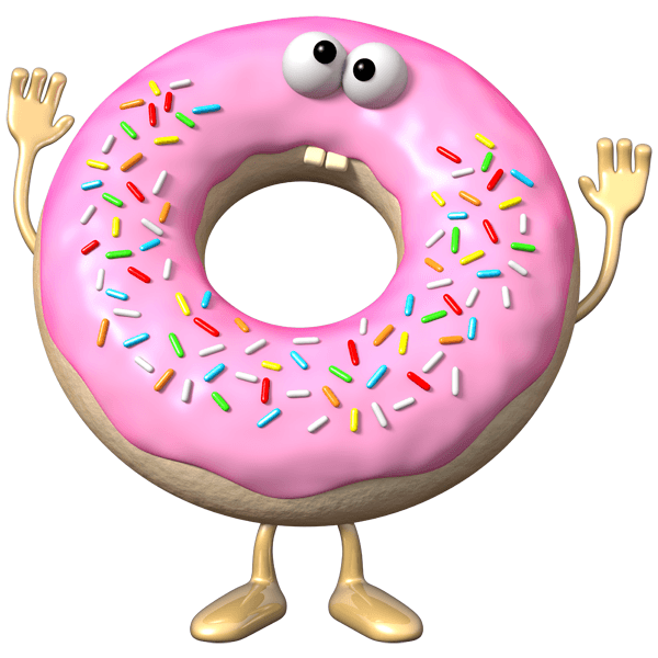 Stickers For Kids Doughnut