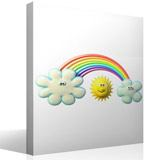 Stickers for Kids: Sun between clouds and rainbows 4