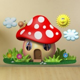 Stickers for Kids: The house of the red mushroom 3