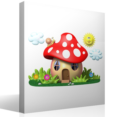 Stickers for Kids: The house of the red mushroom