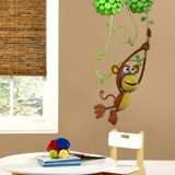 Stickers for Kids: Monkey playing on the vine 3
