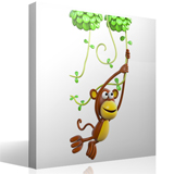 Stickers for Kids: Monkey playing on the vine 4