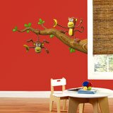 Stickers for Kids: Two monkeys playing on a branch 3